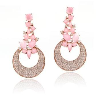 c2615551d Fashion Jewellery Silver Ruby Topaz Turquoise Gold Jhumka Earrings Design  with Price