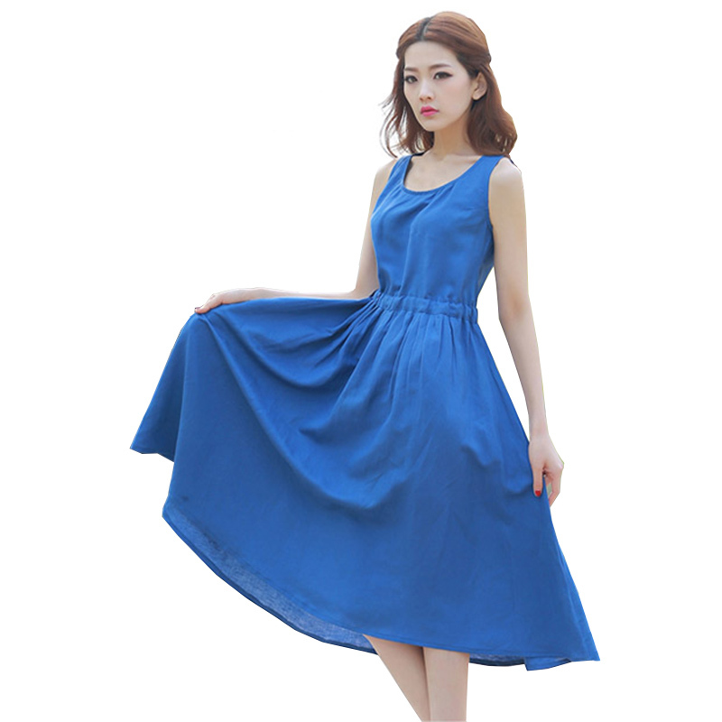 Cotton Maxi Dress 2015 Summer Style Long Blue Dresses Women Vestido De Festa Flare Beach Party Red Desigual Plus Size Clothes