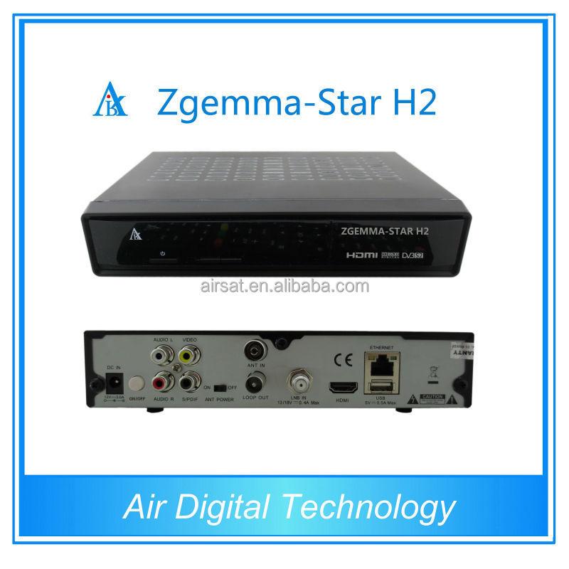 Zgemma H2 DVB T2/C + DVB-S2 live sports hd satellite tv receiver and softcam