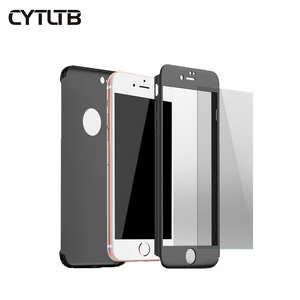 CYTLTB Brand For Iphone 6 7 8 Plus Cell Phone Case 360 Degree PC Hard Full Cover 360 Phone Case For Iphone X XS XR MAX