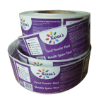 Waterproof Plastic Stick Label Logo Custom, Glossy Full Colour Labels on Rolls