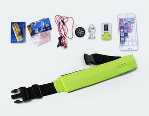 Factory Wholesale Waterproof Elastic spandex Sports Running belt Waist Pack / Pouch Belt, Assorted Color