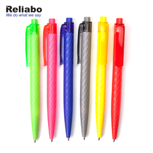 Reliabo Free Sample Full Color Customized Triangle Promotional Plastic Slogan Ball Pen