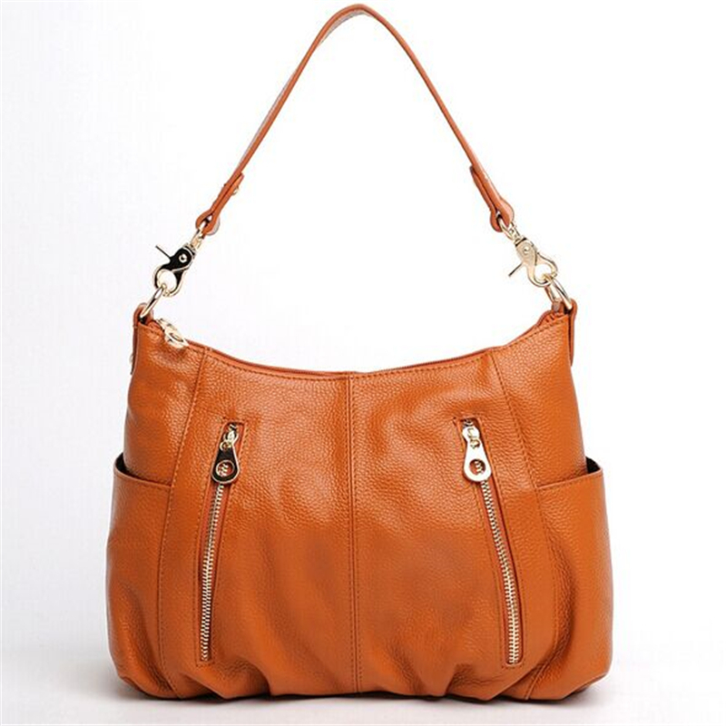 Guaranteed 100% genuine cow leather women shoulder bag fashion ladies messenger bag casual style real leather solid handbag