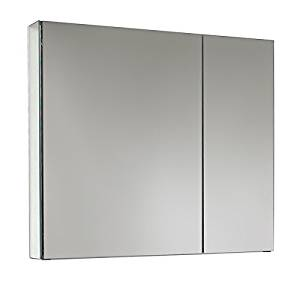 Get Quotations Modern Style Aluminum Gl Materials Fresca Medium Mirrored Medicine Cabinet