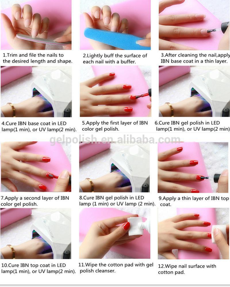 Gel Nail Polish How To: Nail Beauty Use Own Brand 220+ Colors Nail Uv/led Gel