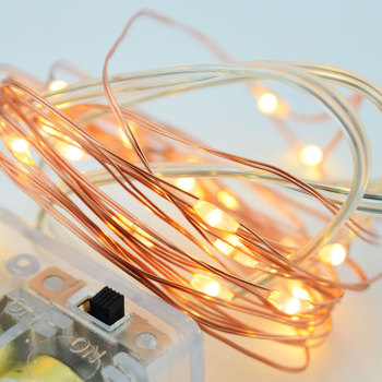 Strip 33Ft 10M 100leds Micro String Copper Wire Ultra Thin Rope Light solar micro led string lights
