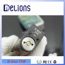 2016 Delions Alibaba experss amazing design resin box mod D-box 75w/TVL mod kit/SCNDRL MOD KIT with fast shipping