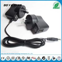 Universal UK plug USB power adapter 6V 1A 100-240V AC DC Power Supply For LED light