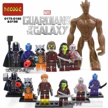 Marvel Guardians of the Galaxy action figures 6-8pc/set Building Blocks Figures Groot Star-Lord Rocket Raccoon Ronan Drax Gamora