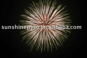 5 inch colour strobe firework ball shell display shell fireworks for sale