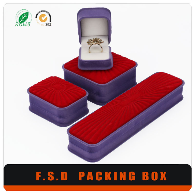 Oem Low Price velvet fabric box wholesale jewelry packaging