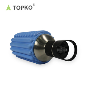 TOPKO Built for Travel double wall stainless steel High Performance Stainless Steel Foam Roller Water Bottle