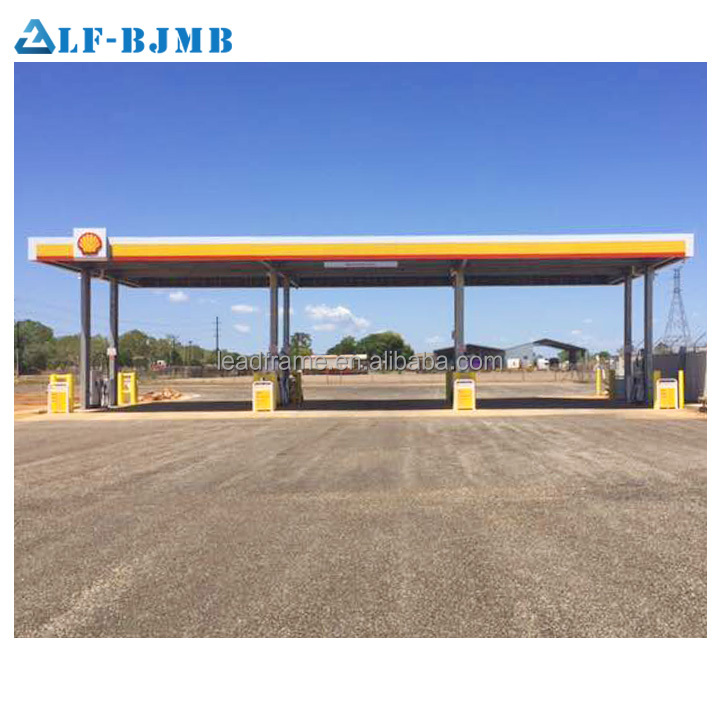 Prebuilt Steel Structure Shed Petrol Station Design