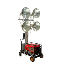led Light Tower telescopic Metal halogen lamp pneumatic mast portable price