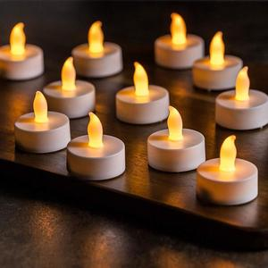 Flameless LED Tea Light Candles, Battery-powered Unscented LED Tealight Candles,Tealight