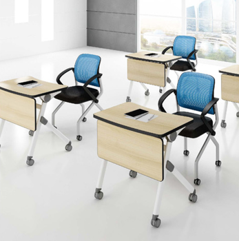 Modern Design Melamine Desktop Movable Folding Study Table And Chair
