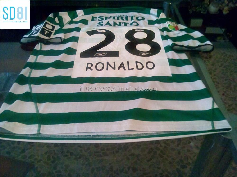 buy popular 284d1 5c1d4 Jersey Shirt Ronaldo Cristiano Sporting Lisbon - Buy Jersey Ronaldo Product  on Alibaba.com