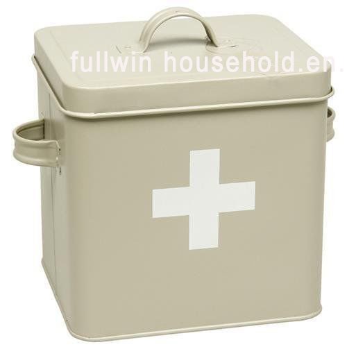 Metal Housekeeper Box Cleaning Tool Caddy with Removable Caddy Tray Carry Box