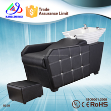 new black hair salon washing shampoo chair