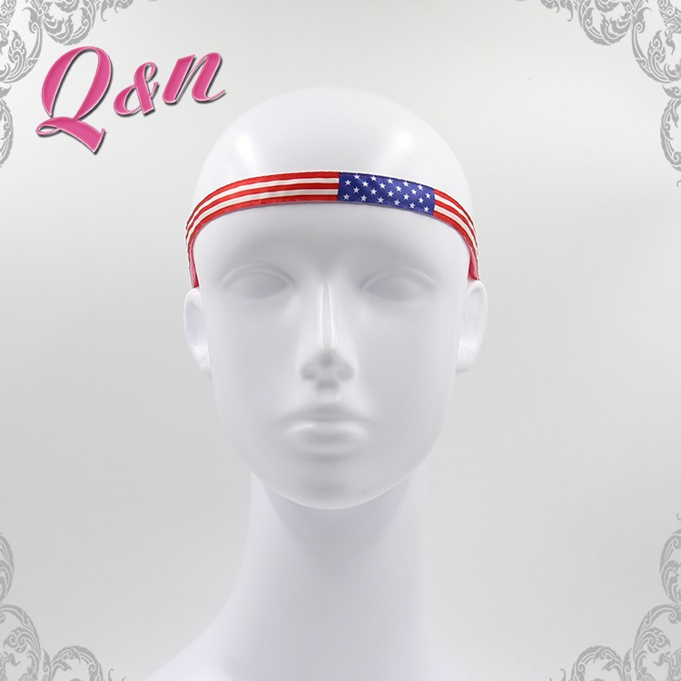 High quality sports yoga girls head bands with silicone strip