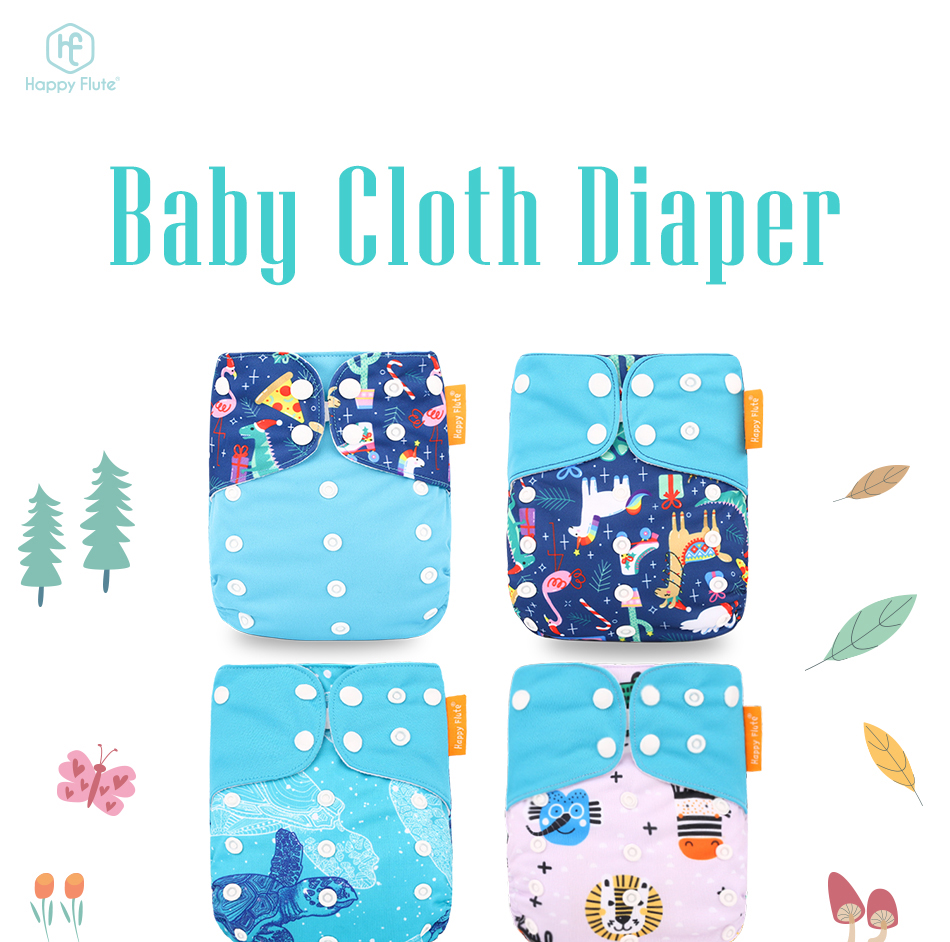 Happyflute Pocket Cloth Diaper Breathable Nappy Adjustable Cotton Cloth Nappies