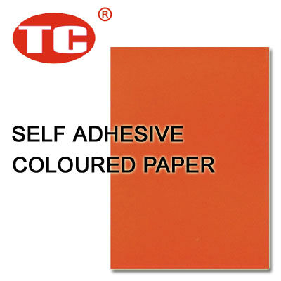Self Adhesive Orange Coloured Paper
