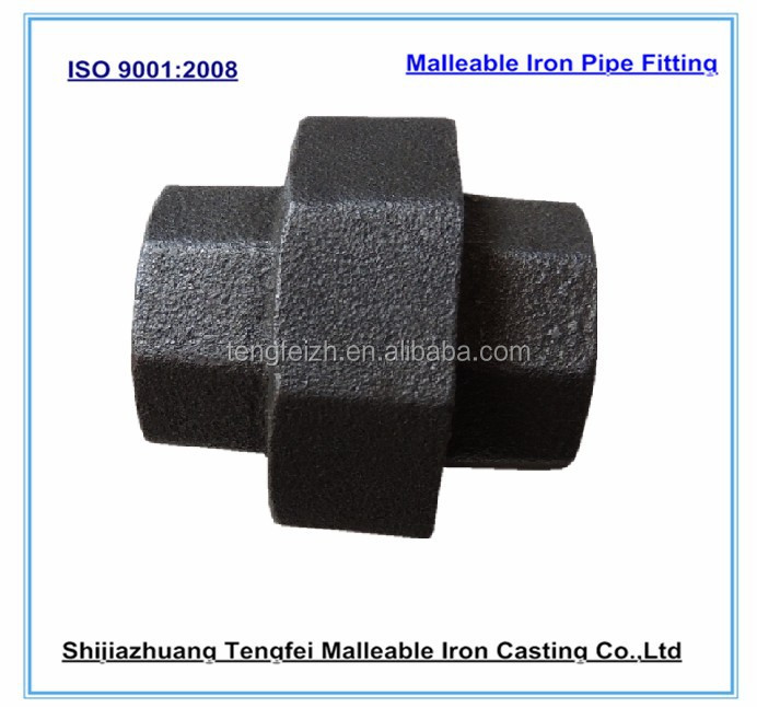 Black Malleable Iron Pipe Fitting :conical Union