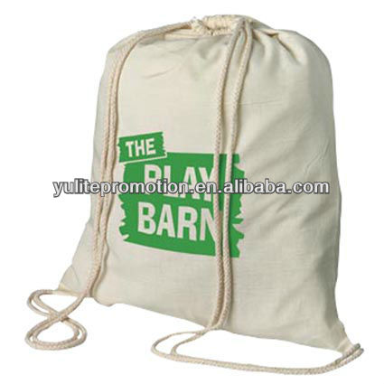 cotton drawstring backpack promotion