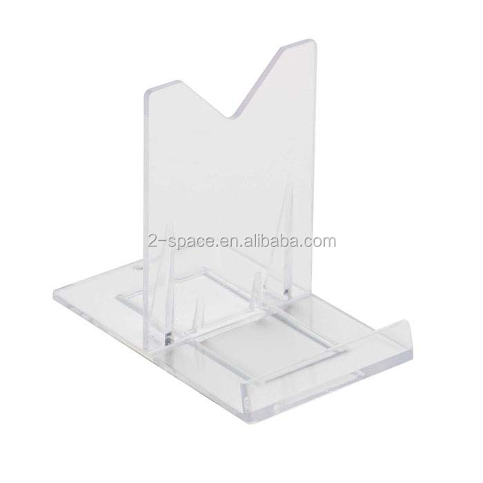 Two-Part Fossils Minerals Holder Stand Clear Adjustable Acrylic Easel Display