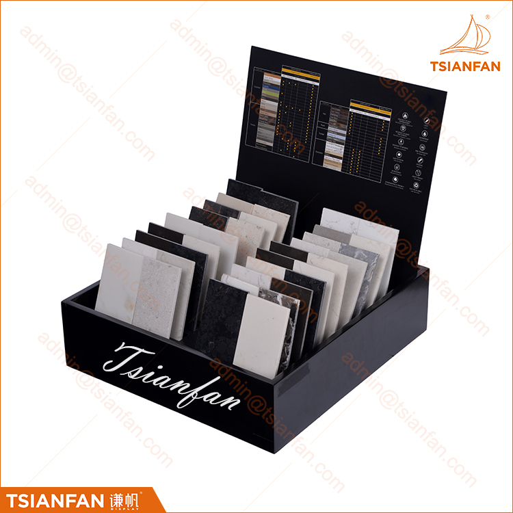 Customized Stone Samples Packaging Display Wood Sample Box