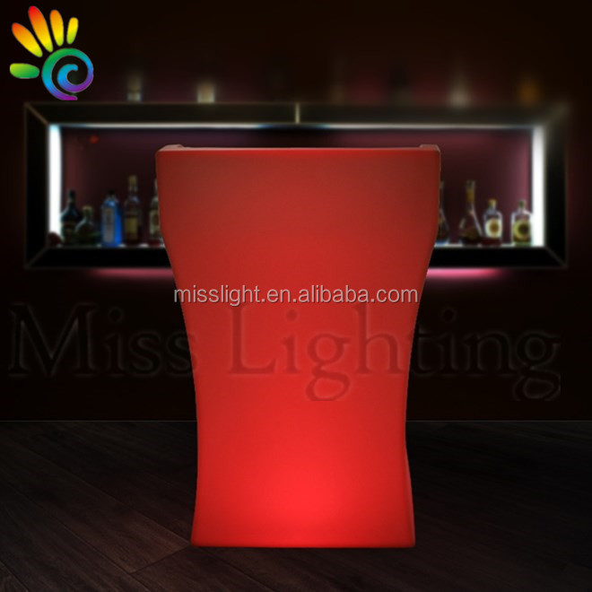 RGB led light colorful modern event podium clear plastic dining podium banquet podium
