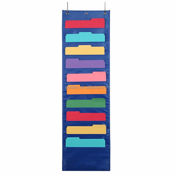 Polyester Hanging File Folders Pocket Chart Cascading Organizer