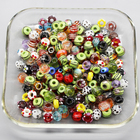 Big hole murano lampwork glass beads for jewelry charms