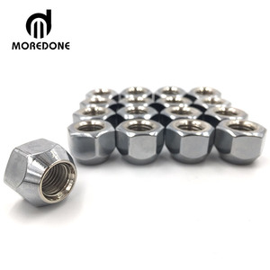 Wheel parts hex bolt and nut, stainless steel wheel nylon lock coupling brass screw cap flange hex nut