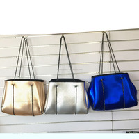 Wholesale perforated Neoprene Women beach bag Gym Tote