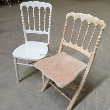 Limewash Wooden Wedding Folding Napoleon Chair