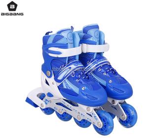 HANGZHOU THE BIGBANG PVC flashing wheel kids roller skate shoes four wheel inline skate wholesale