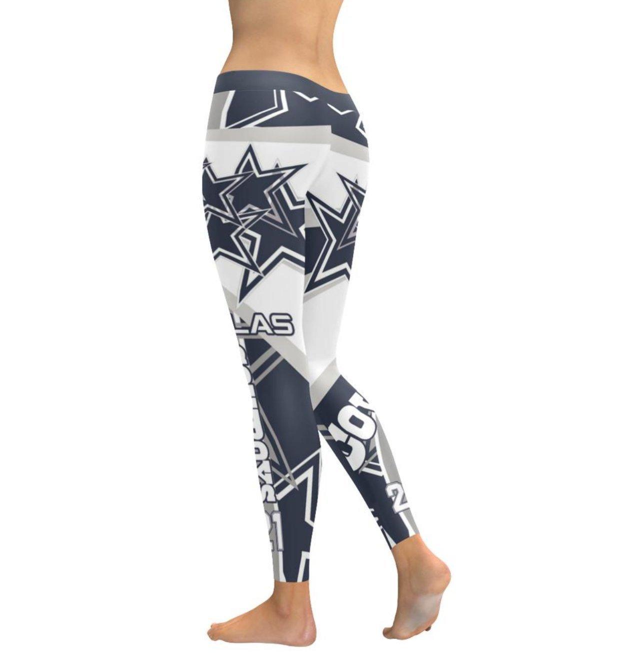 73db389fb9fce6 Get Quotations · Dallas Football Team Gradient Leggings Women's Tights ✓  Dallas Football Team Stars Graphic Design Print ✓