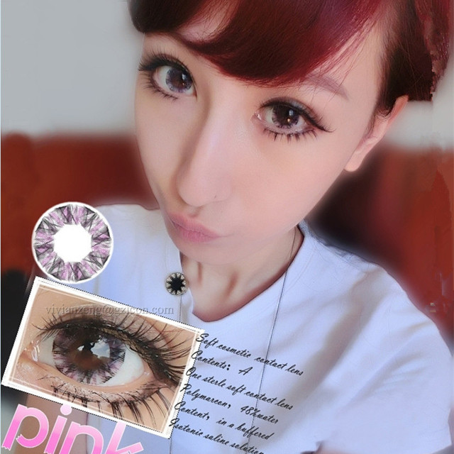 pink fresh colored contact lenses coloured contacts cheap cosplay color contact lenses