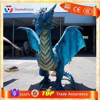 dinosaur party life size animatronic rc dinosaur blue robot dragon