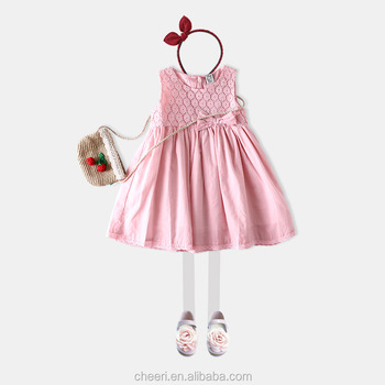 976270d8cd71 Handmade Simple Soft High Quality Pink Baby Dress Spring Summer Baby ...