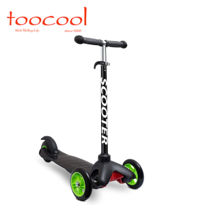 TK02 Mini Kids Kick Scooter Foot Kick Scooters With 3 PU Wheels Flash