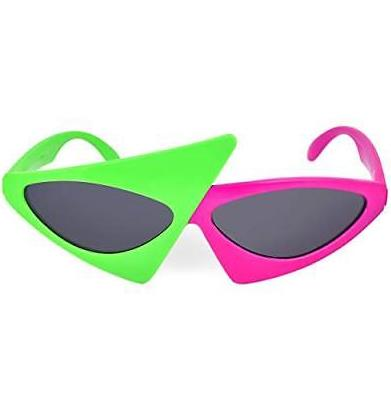 NEON SUNGLASSES Shades Hawaii Beach BBQ Summer 80s 90s Fancy Dress Hen Party UV