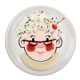 FOOD FACE Kids' Ceramic Oval Dinner Plate