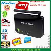2016 new arrival RK3368 2G 16G octa core z4 android tv box