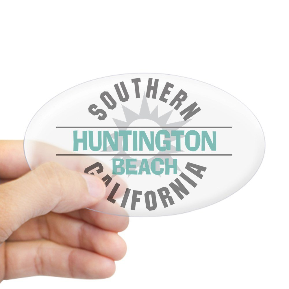 CafePress - Huntington Beach California Oval Sticker - Oval Bumper Sticker, Euro Oval Car Decal