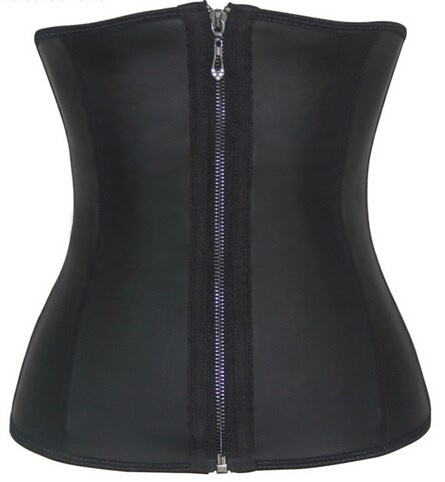 latex zipper waist cincher latex zip up shaper body shaper for women