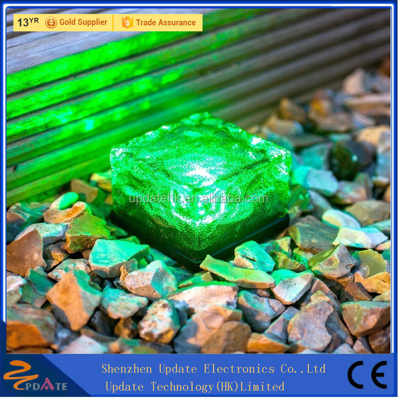 Frosted Waterproof Glass Led Ice Solar Brick Paver Light