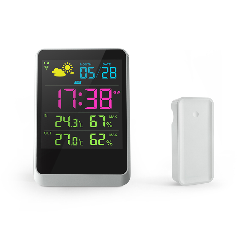 Digital Lcd clock with temperature Thermometer for Desktop